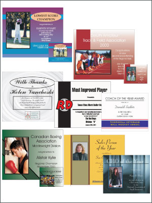 Pre-styled or custom designed corporate or team certificates.